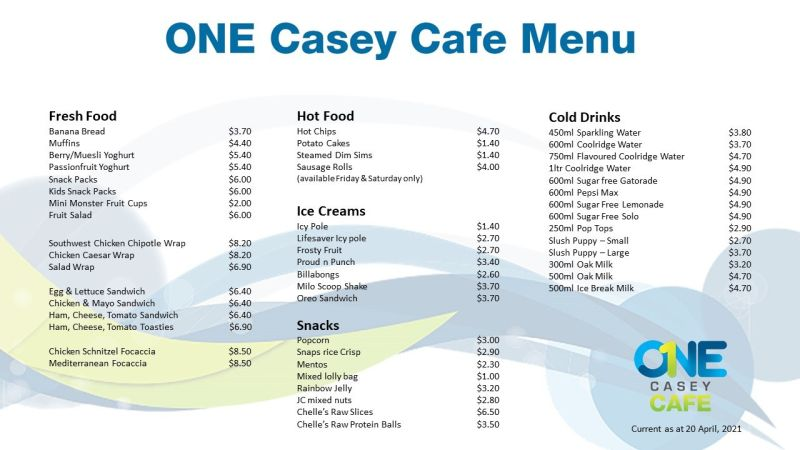 ONE Casey Menu2021