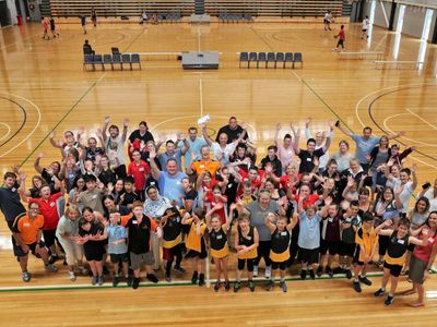 Athletes and Parents of the Victorian team came together at Casey Stadium