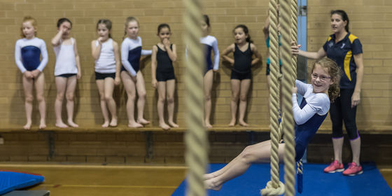 BLC Gymnasts on Rope