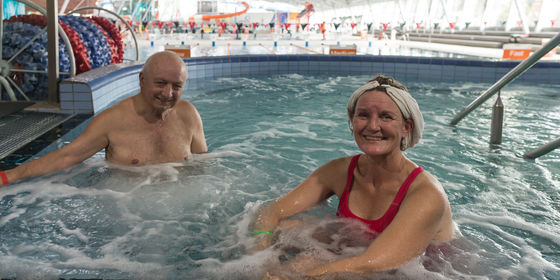 Man and woman in spa