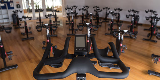 Exercise bikes in RPM room